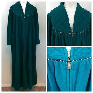 Vintage Vanity Fair Quilted Fleece Robe Size M